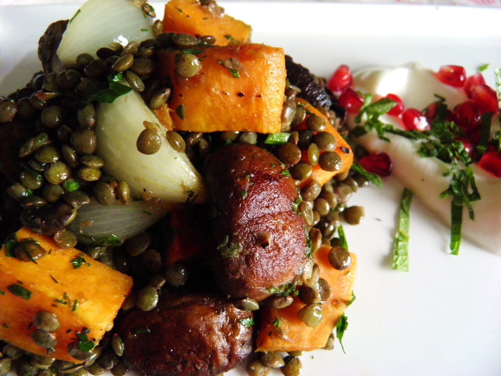 Lentils with Roasted Vegetables