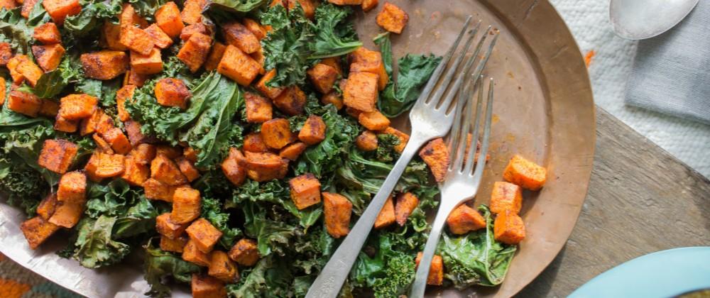 Kale Sweet Potato Polenta Massel Bouillon
