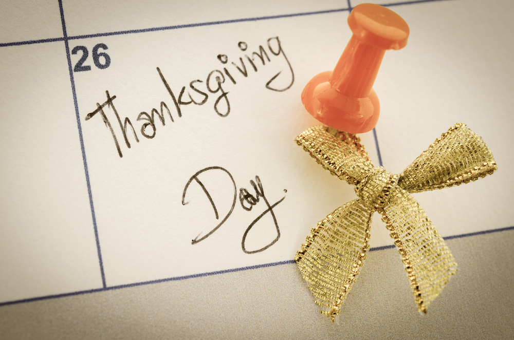 thanksgiving day marked on calendar