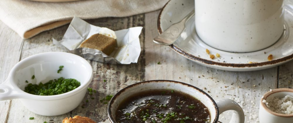 Massel Vegan French Onion Soup Recipe by The Blender Girl Tess Masters