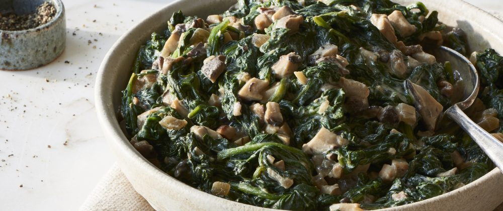Massel- Creamed Spinach with Shiitakes
