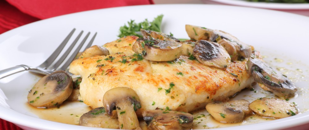 Chicken and Mushrooms for Two