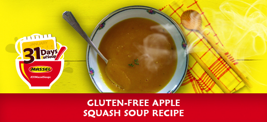 Gluten-free Apple Squash Soup made with Massel gluten-free bouillon