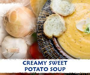 Creamy Sweet Potato soup recipe using Massel Bouillon.