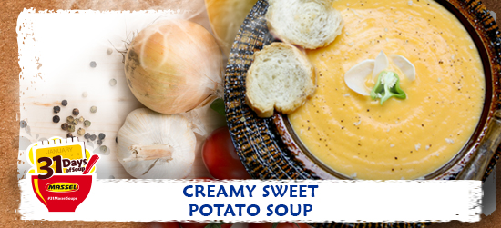 Creamy Sweet Potato soup recipe using Massel Bouillon.