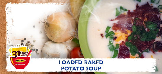 Loaded Baked Potato soup recipe using Massel Bouillon.