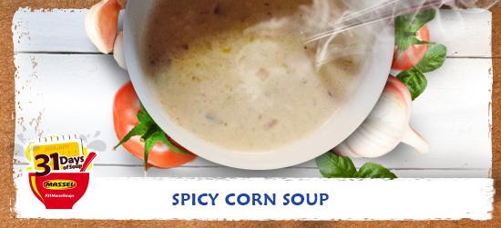 Spicy corn soup recipe using Massel Bouillon.