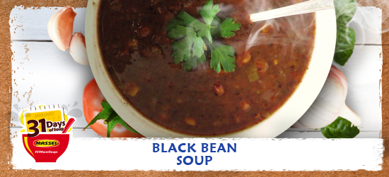 Black Bean Soup Recipe using Massel Bouillon