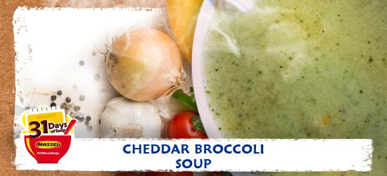 Cheddar Broccoli Soup Recipe using Massel Bouillon.
