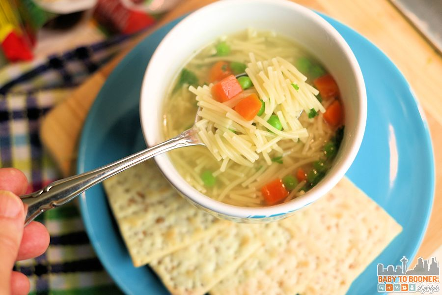 Healthy Vegetarian Chicken Noodle Soup Massel broth