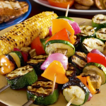 Vegetables: Brush some olive oil and dash salt and pepper over your favorite veggies before grilling for a delicious platter that all can enjoy.