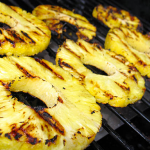 Shish kebab some of your favorite fruits and throw them on the grill or platter for the whole family to enjoy.