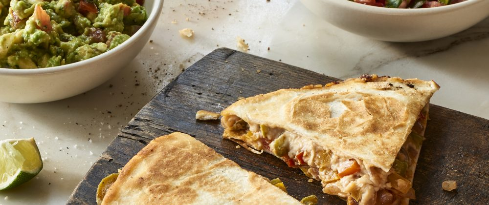 Massel Vegan fajita quesadilla recipe by The Blender Girl, Tess Masters