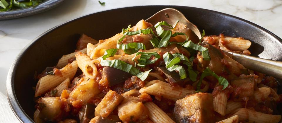 Massel Tomato and Eggplant Pasta Recipe