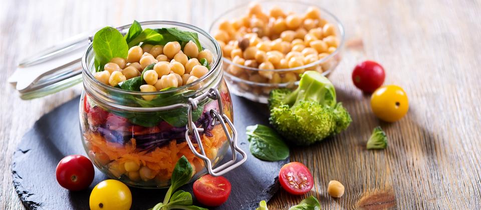 vegan food in jars