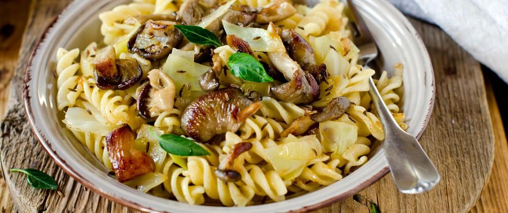 fennel and mushroom pasta